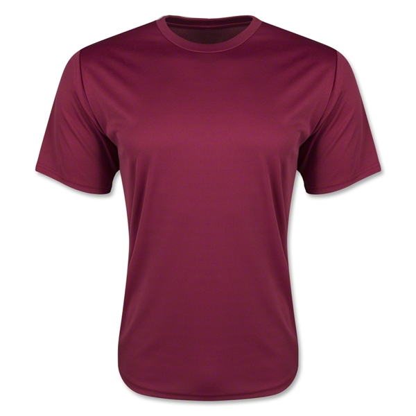 Moisture Wicking Poly T-Shirt (Maroon)