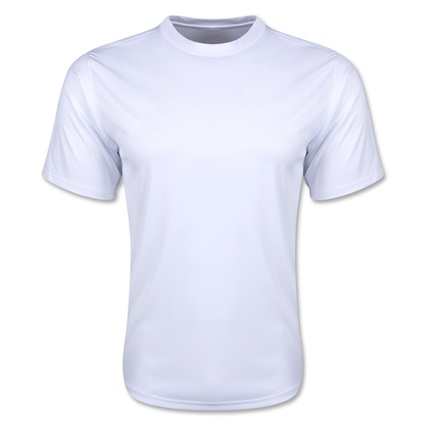 Moisture Wicking Poly T-Shirt (White)