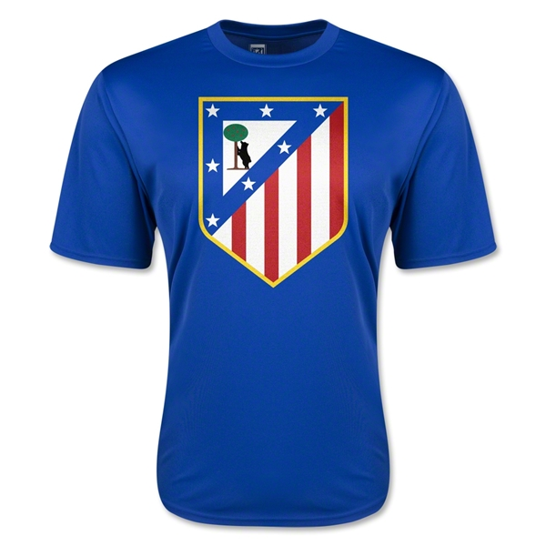 Atletico Madrid Crest Training T-Shirt (Royal)