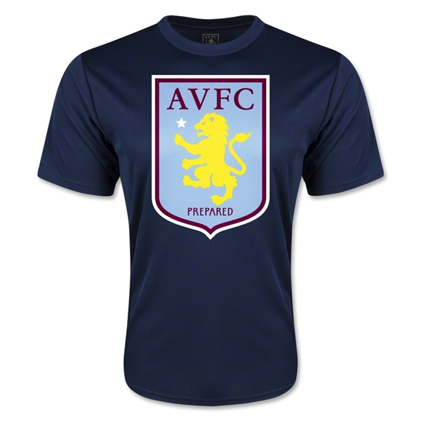 Aston Villa Moisture Wicking Poly T-Shirt (Navy)