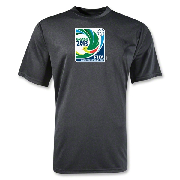 FIFA Confederations Cup 2013 Moisture Wicking Emblem T-Shirt (Black)