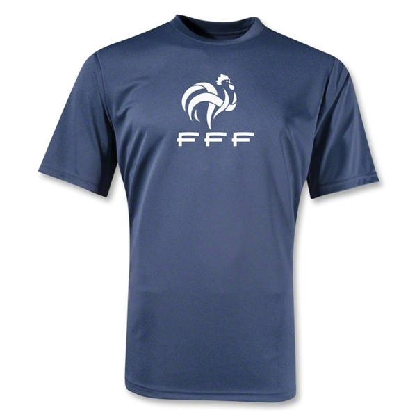 France FFF Poly T-Shirt (Navy)