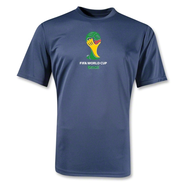 2014 FIFA World Cup Brazil(TM) Emblem Training T-Shirt (Navy)