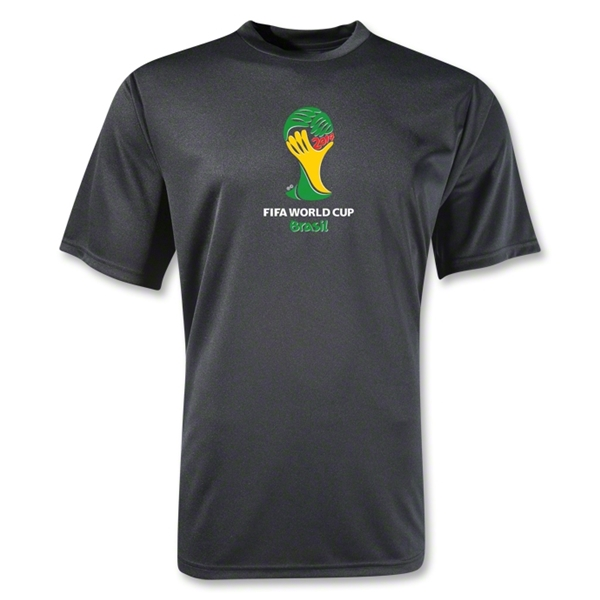 2014 FIFA World Cup Brazil(TM) Emblem Training T-Shirt (Black)