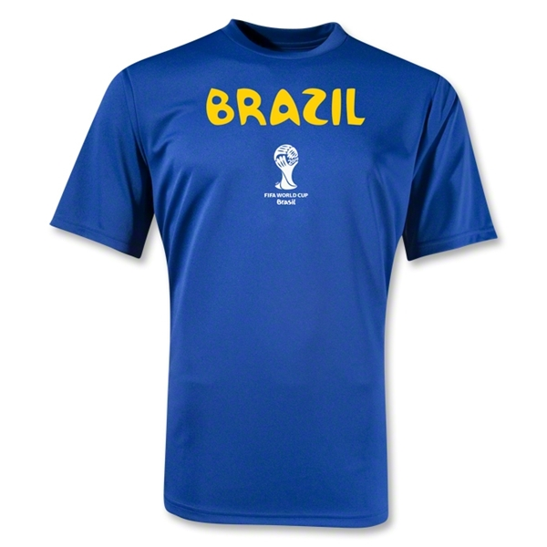 Brazil 2014 FIFA World Cup Brazil(TM) Core Poly T-Shirt (Royal)
