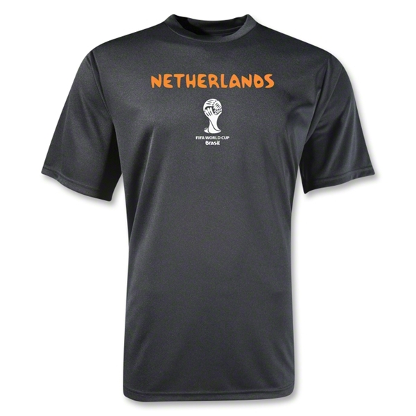 Netherlands 2014 FIFA World Cup Brazil(TM) Men's Core Training T-Shirt (Black)