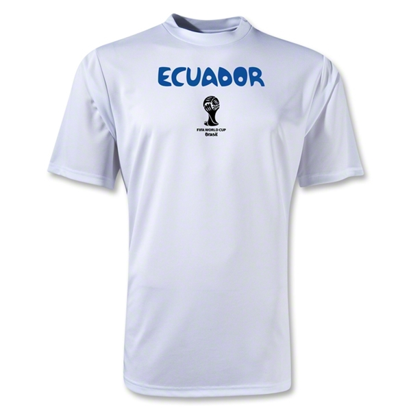 Ecuador 2014 FIFA World Cup Brazil(TM) Men's Core Training T-Shirt (White)