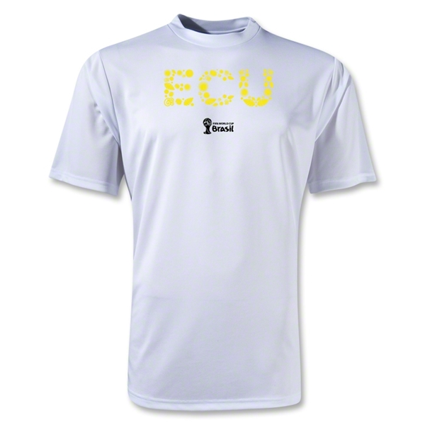 Ecuador 2014 FIFA World Cup Brazil(TM) Men's Elements Training T-Shirt (White)
