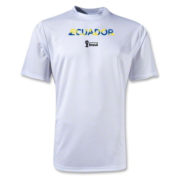 Ecuador 2014 FIFA World Cup Brazil(TM) Men's Palm Training T-Shirt (White)