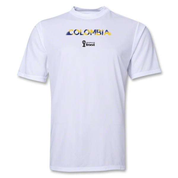 Colombia 2014 FIFA World Cup Brazil(TM) Men's Palm Training T-Shirt (White)