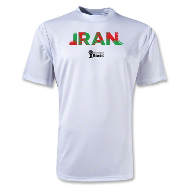 Iran 2014 FIFA World Cup Brazil(TM) Men's Palm Training T-Shirt (White)