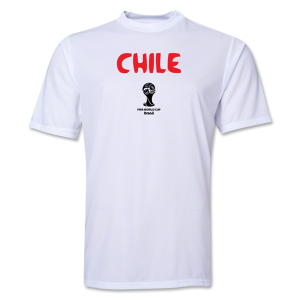 Chile 2014 FIFA World Cup Brazil(TM) Men's Core Training T-Shirt (White)
