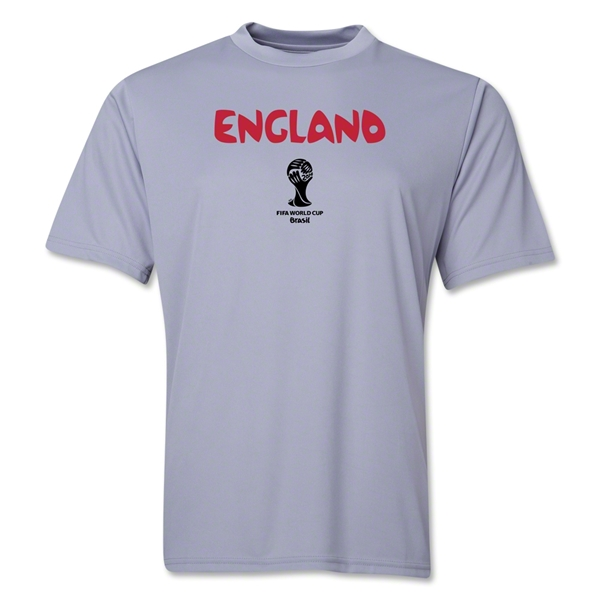 England 2014 FIFA World Cup Brazil(TM) Men's Core Training T-Shirt (Grey)