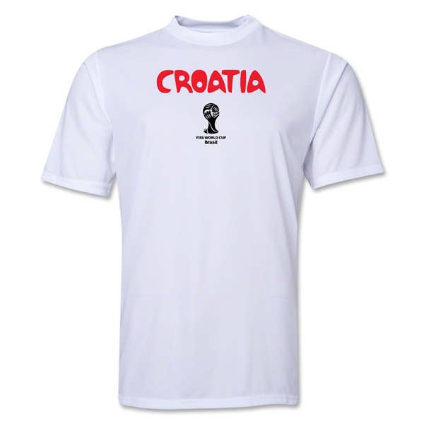 Croatia 2014 FIFA World Cup Brazil(TM) Men's Core Training T-Shirt (White)