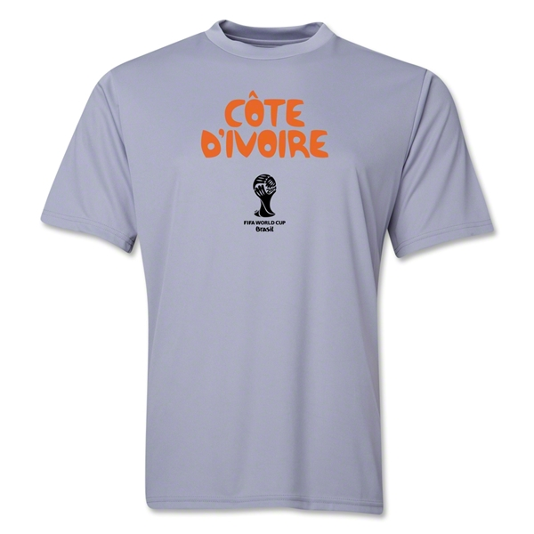 Cote d'Ivoire 2014 FIFA World Cup Brazil(TM) Men's Core Training T-Shirt (Grey)