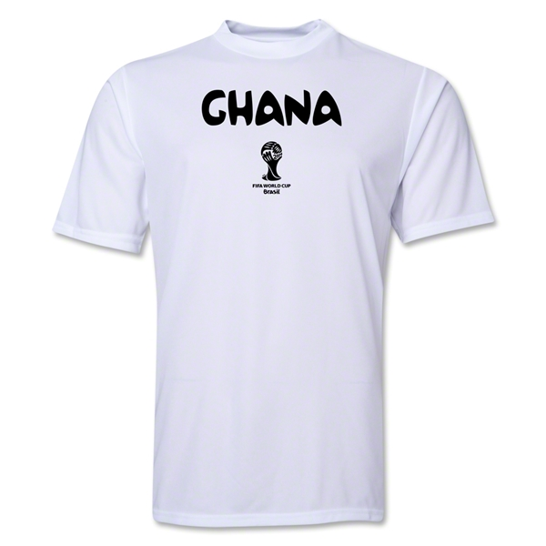 Ghana 2014 FIFA World Cup Brazil(TM) Men's Core Training T-Shirt (White)