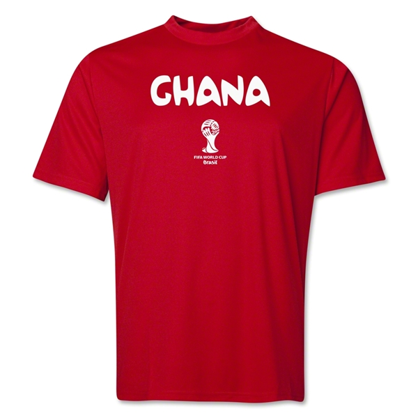 Ghana 2014 FIFA World Cup Brazil(TM) Men's Core Training T-Shirt (Red)