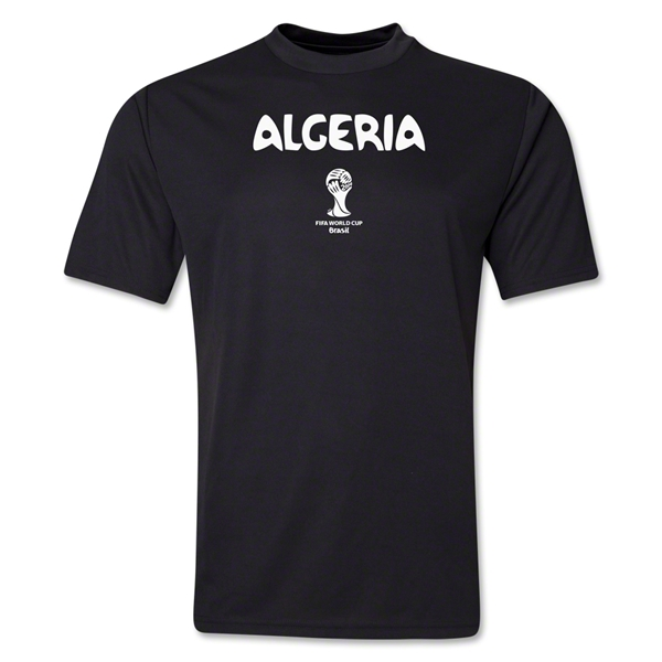 Algeria 2014 FIFA World Cup Brazil(TM) Men's Core Training T-Shirt (Black)