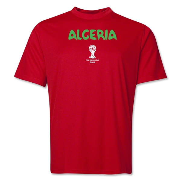 Algeria 2014 FIFA World Cup Brazil(TM) Men's Core Training T-Shirt (Red)