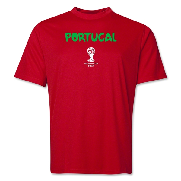 Portugal 2014 FIFA World Cup Brazil(TM) Men's Core Training T-Shirt (Red)