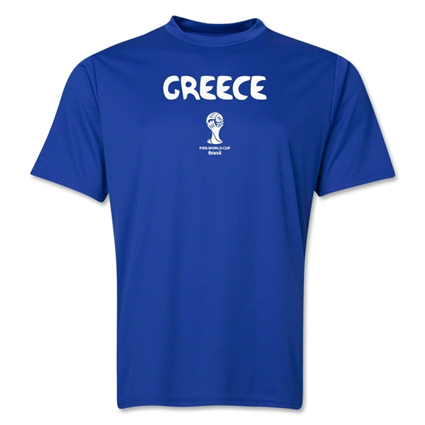 Greece 2014 FIFA World Cup Brazil(TM) Men's Core Training T-Shirt (Royal)