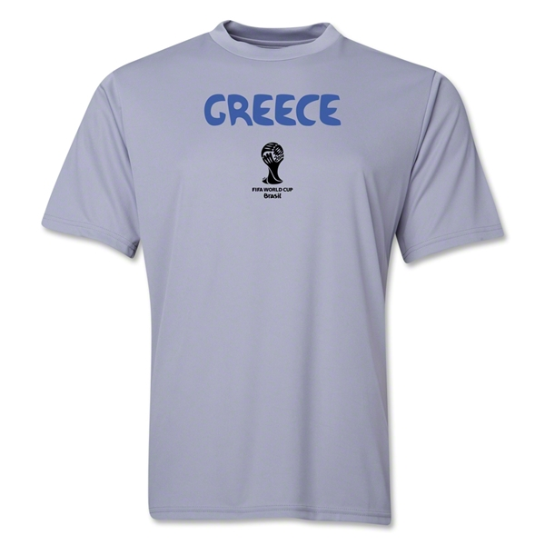 Greece 2014 FIFA World Cup Brazil(TM) Men's Core Training T-Shirt (Grey)