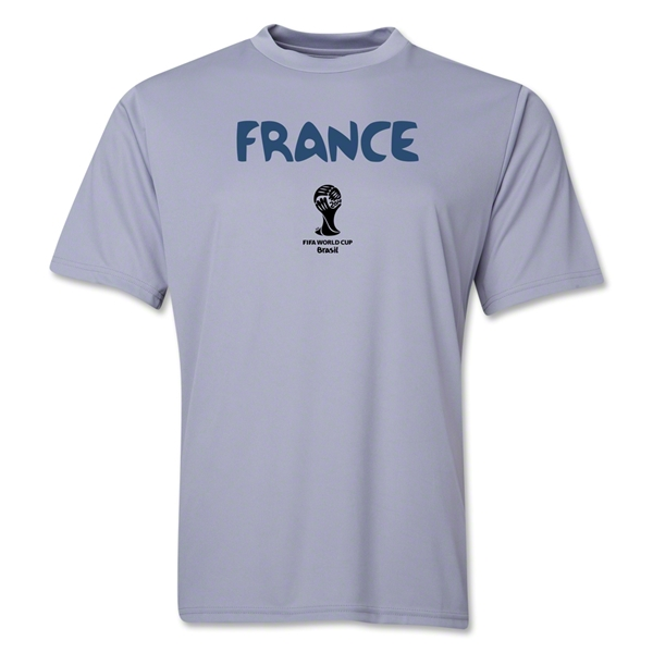 France 2014 FIFA World Cup Brazil(TM) Men's Core Training T-Shirt (Grey)