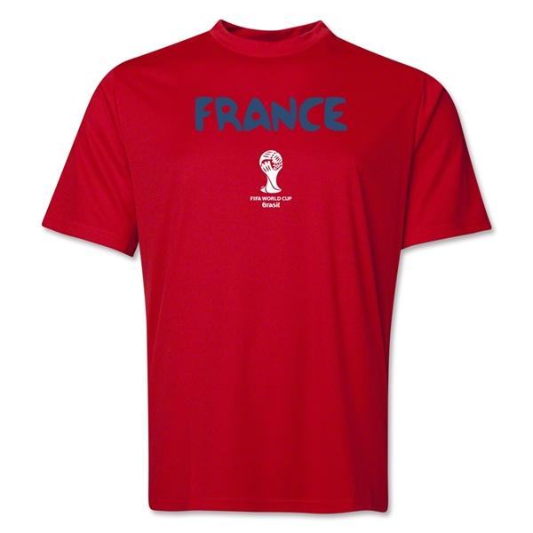 France 2014 FIFA World Cup Brazil(TM) Men's Core Training T-Shirt (Red)