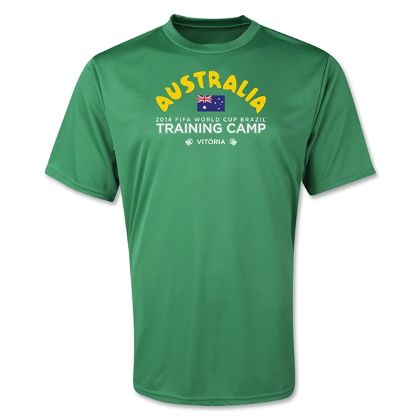 Australia 2014 FIFA World Cup Brazil(TM) Men's Training Camp T-Shirt (Green)
