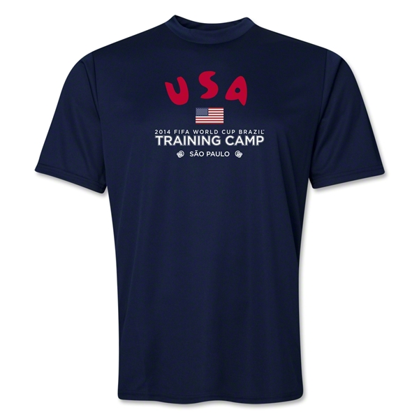 USA 2014 FIFA World Cup Brazil(TM) Men's Training Camp T-Shirt (Navy)