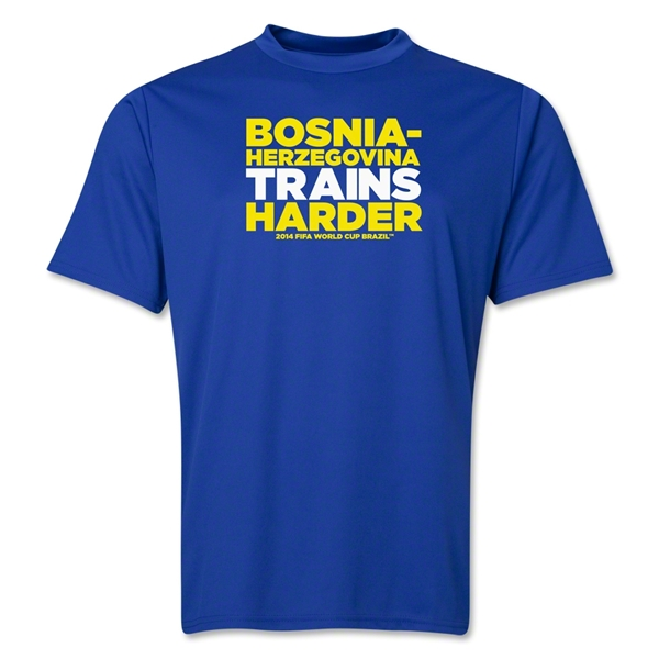 Bosnia-Herzegovina 2014 FIFA World Cup Brazil(TM) Men's Trains Harder T-Shirt (Royal)
