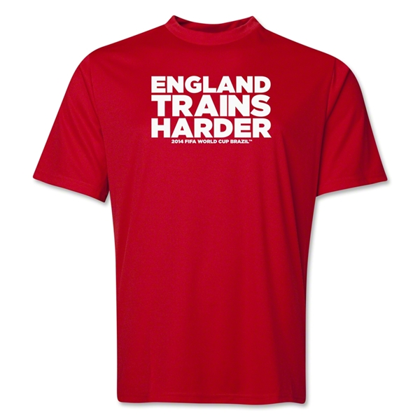 England 2014 FIFA World Cup Brazil(TM) Men's Trains Harder T-Shirt (Red)