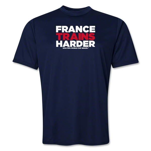 France 2014 FIFA World Cup Brazil(TM) Men's Trains Harder T-Shirt (Navy)