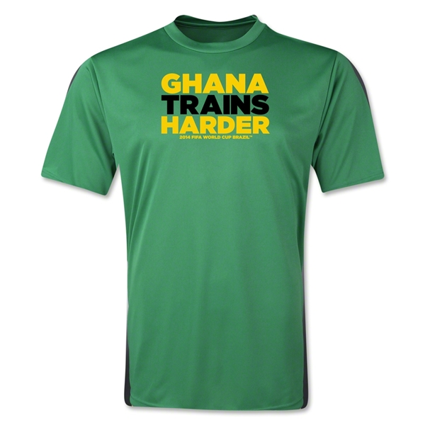 Ghana 2014 FIFA World Cup Brazil(TM) Men's Trains Harder T-Shirt (Green)