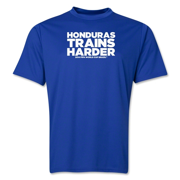 Honduras 2014 FIFA World Cup Brazil(TM) Men's Trains Harder T-Shirt (Royal)