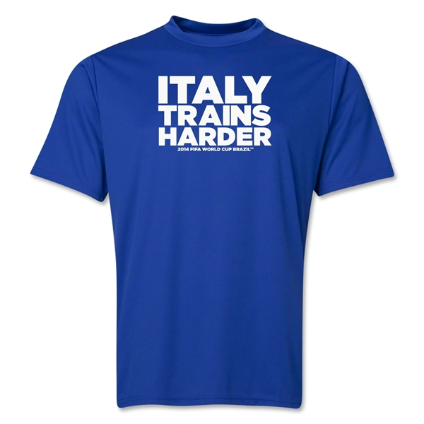 Italy 2014 FIFA World Cup Brazil(TM) Men's Trains Harder T-Shirt (Royal)