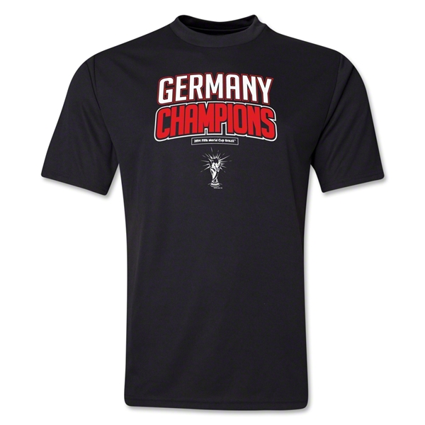 Germany 2014 FIFA World Cup Brazil(TM) Champions Logotype Training T-Shirt (Black)