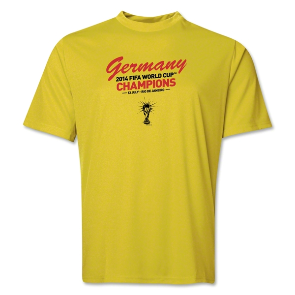 Germany 2014 FIFA World Cup Brazil(TM) Champions Script Training T-Shirt (Yellow)