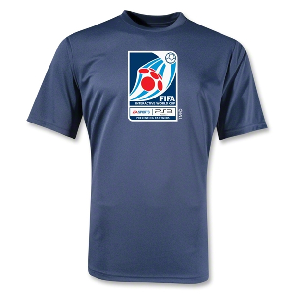 FIFA Interactive World Cup Moisture Wicking Poly Emblem T-Shirt (Navy)