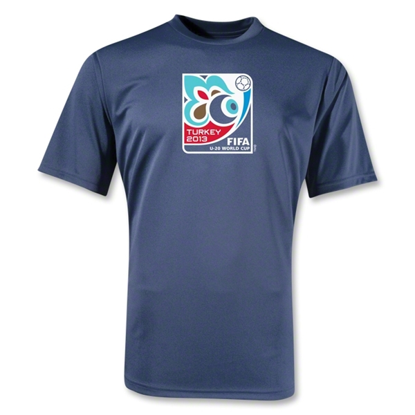 FIFA U-20 World Cup Turkey 2013 Poly Wicking Emblem T-Shirt (Navy)
