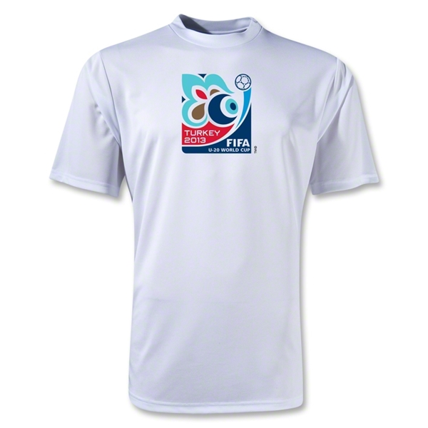 FIFA U-20 World Cup Turkey 2013 Poly Wicking Emblem T-Shirt (White)