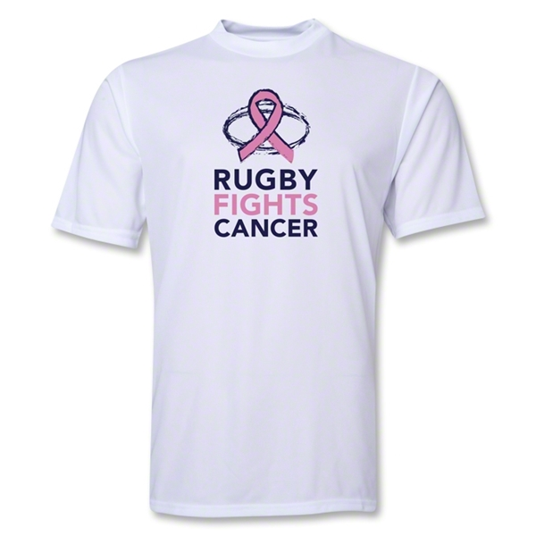 Rugby Fights Cancer Poly Training T-Shirt (White)