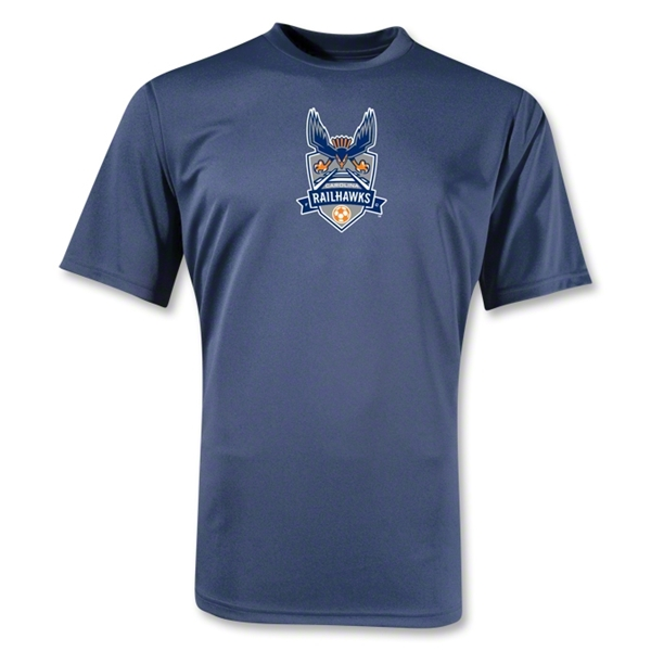 Carolina Railhawks Moisture Wicking Poly T-Shirt (Navy)