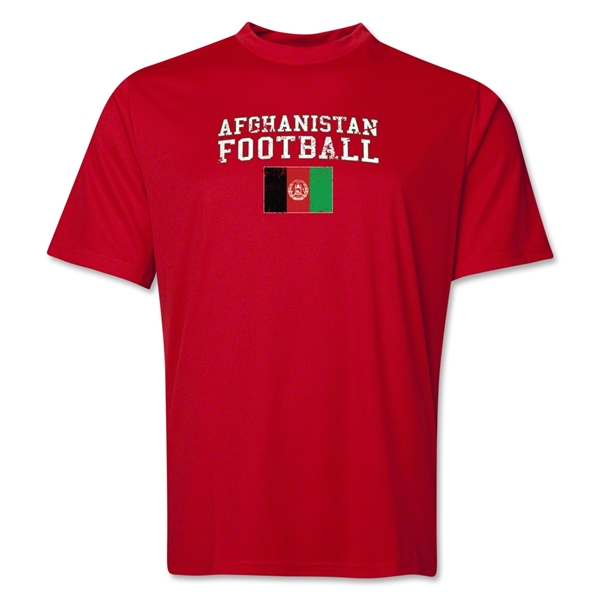 Afghanistan Football Training T-Shirt (Red)