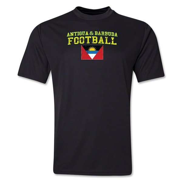 Antigua & Barbuda Football Training T-Shirt (Black)
