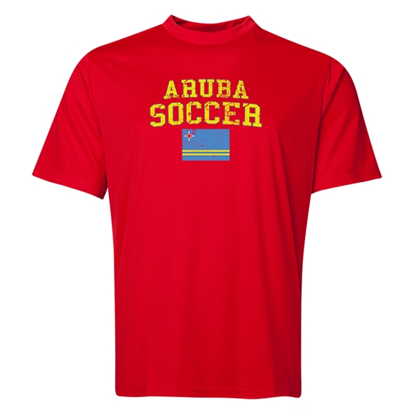 Aruba Soccer Training T-Shirt (Red)