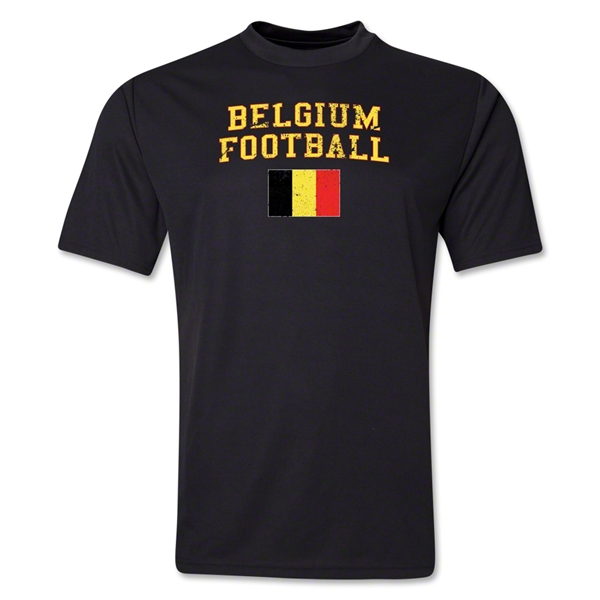 Belgium Football Training T-Shirt (Black)