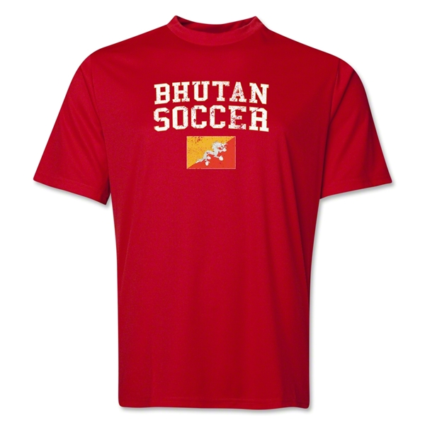 Bhutan Soccer Training T-Shirt (Red)