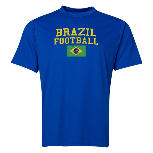 Brazil Football Training T-Shirt (Royal)