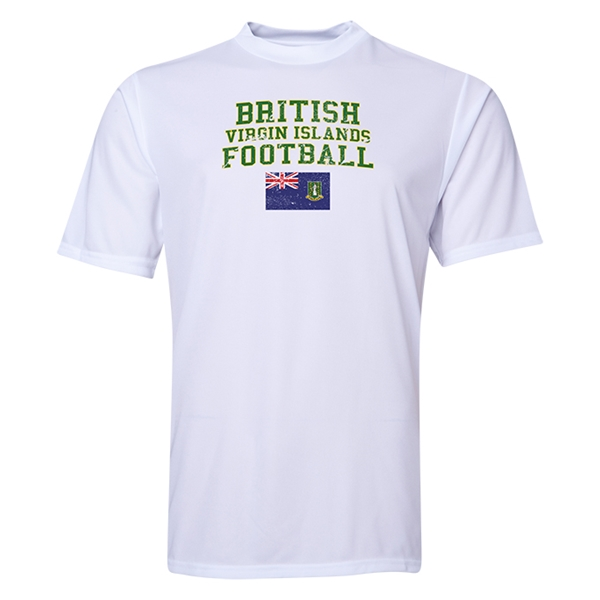 British Virgin Islands Football Training T-Shirt (White)